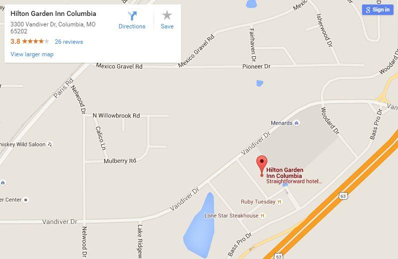 Hilton Garden Inn 3300 Vandiver Drive Columbia, MO 65202